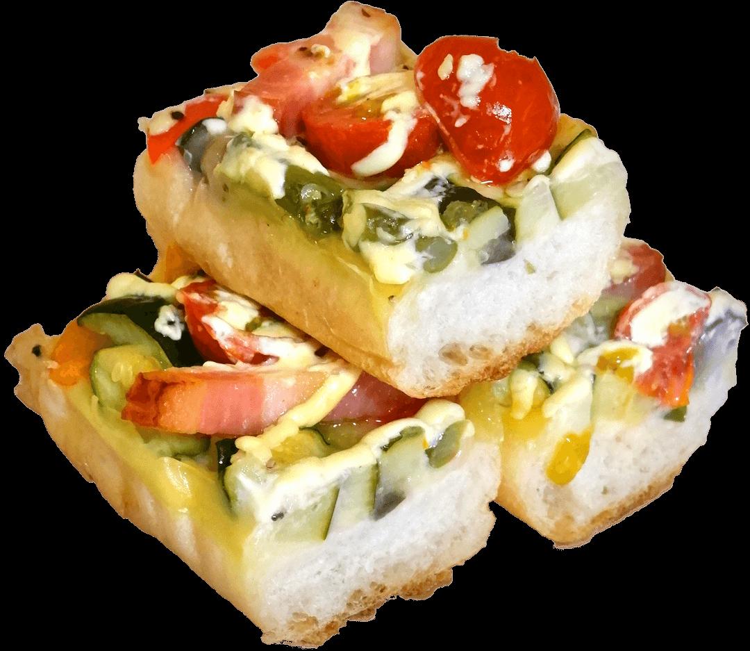 彩り野菜のタルティーヌ