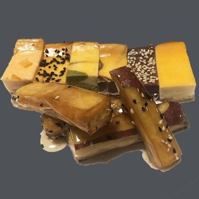 チーズケーキ6種類と大学芋