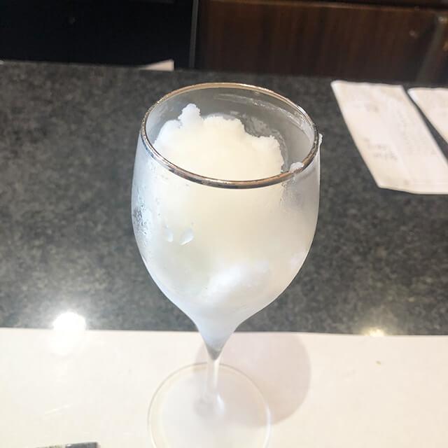 シャンパンシャーベット
