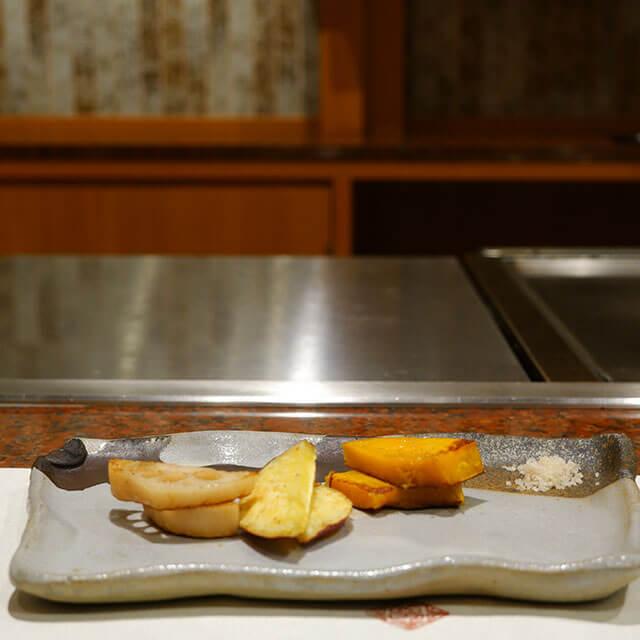 旬の野菜 鉄板焼き
